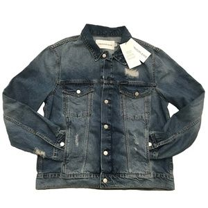 CALVIN KLEIN Classic Distressed Trucker Jacket
